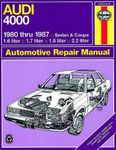 Audi 4000 (Sedan & Coupe) Haynes Repair Manual (1980-1987)