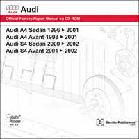 Audi A4/S4 Repair Manual on CD-ROM (1996-2002)