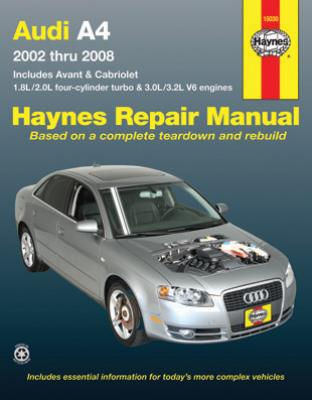 Complete coverage for your Audi A4 Sedan Avant and Cabriolet for 2002 thru  2008 with 1.8L/2.0L four-cylinder...