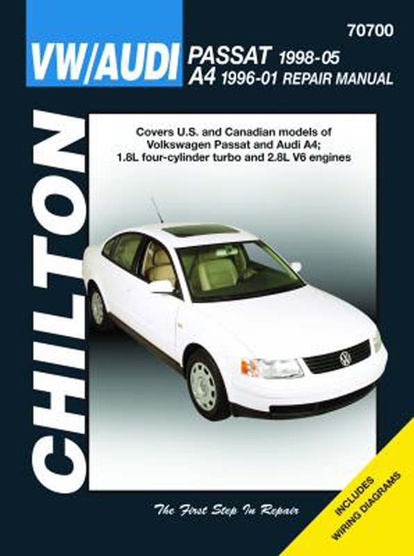Image of Audi A4 & Volkswagen Passat Chilton Repair Manual (1996-2005)