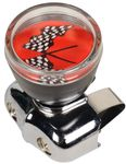 Free Spinning Checkered Flags Steering Wheel Knob