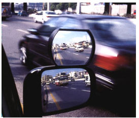 Image of Auxiliary Wide Angle Side-View Mirror Attachment (Large)