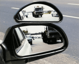 Auxiliary Wide-Angle Side-View Mirror Attachment (Medium)