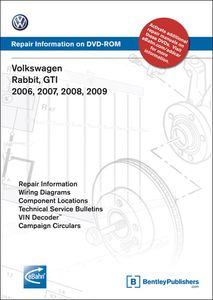 Bentley Volkswagen Rabbit & GTI Repair Manual on DVD-ROM (2006-2009)