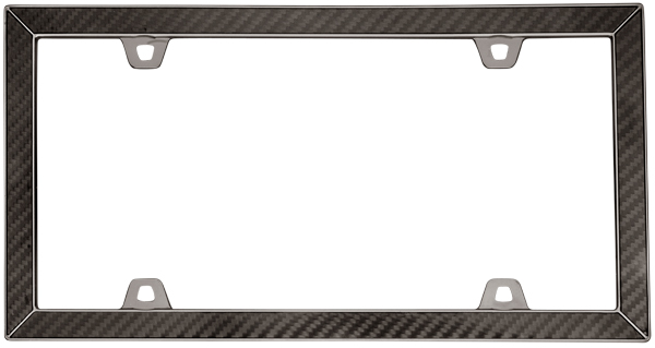 Image of Black Chrome Carbon Fiber II License Plate Frame