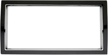 Black & Chrome Curved License Plate Frame