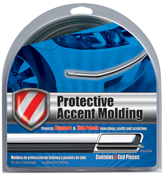 "Image of ""Black/Chrome Protective Accent Molding (1-1/8"""" Wide)"""