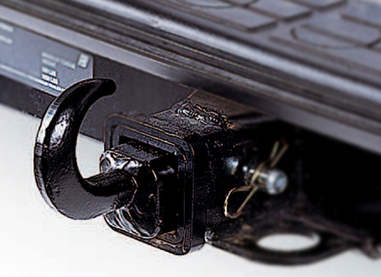 Image of Black Hitch Box Receiver Tow Hook