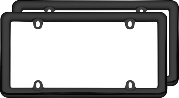 Image of Black Nouveau License Plate Frames (Pair)