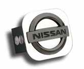 Black Pearl Nissan Logo Stainless Steel Hitch Plug