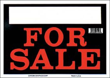 "Black & Red For Sale Sign (8"" x 12"")"