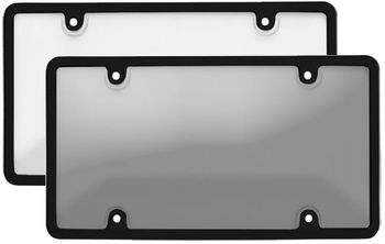 Black Tuf Bubble Shield License Plate Frame Combo