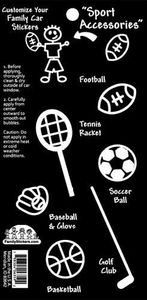 Black & White Sporting Accessories Stickers