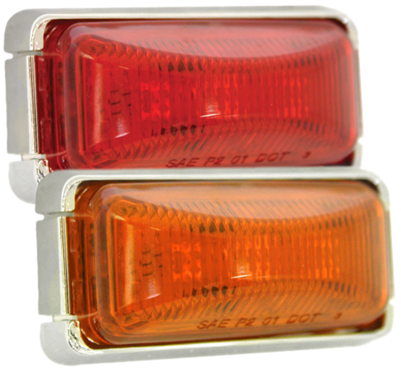"Image of ""Blazer 2"""" LED Running Board Clearance & Side Marker Mini Lamp Kit - Amber"""