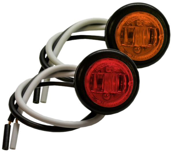 "Image of ""Blazer 3/4"""" Round LED Clearance & Side marker Light Kit - Amber"""