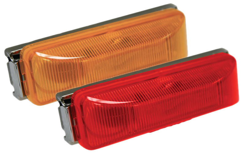 "Image of ""Blazer 4"""" LED Sealed Running Board Marker Light Kit - Amber"""
