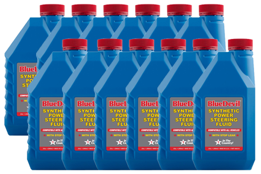 Image of Blue Devil Synthetic Power Steering Fluid (32 oz) - 12 Pack