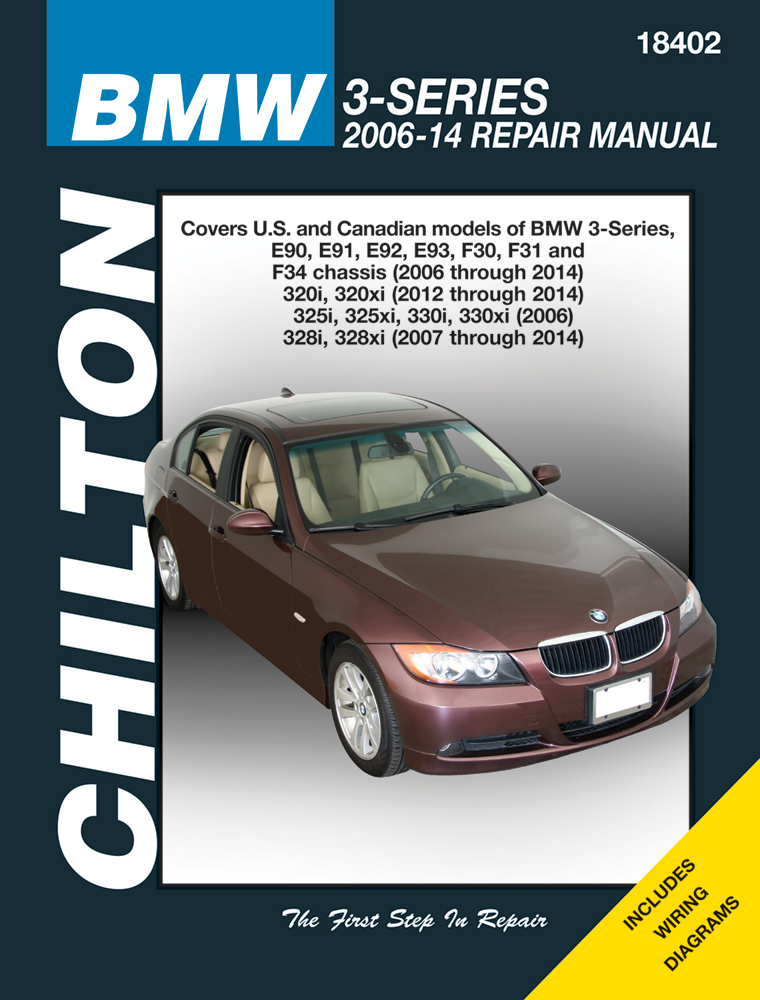 Image of BMW 3-Series Chilton Repair Manual (2006-2014)