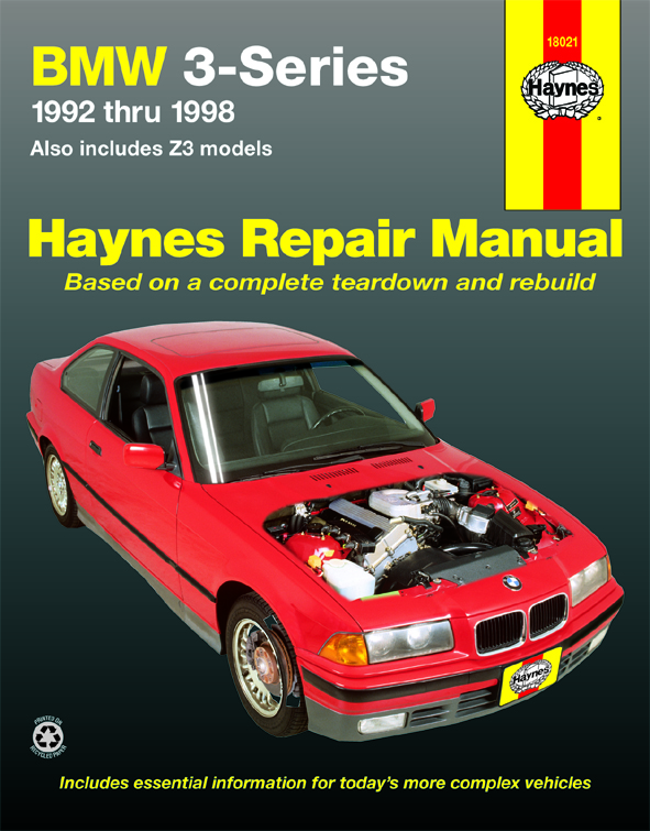 Image of BMW 3 Series & Z3 Haynes Repair Manual (1992-1998)