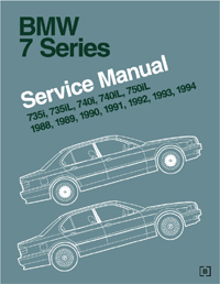 BMW 7 Series (E32) Service Manual 1988-1994