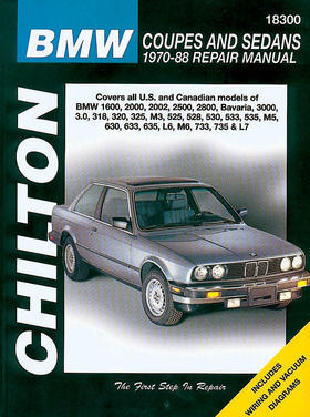 Image of BMW Coupes & Sedans Chilton Manual (1970-1988)