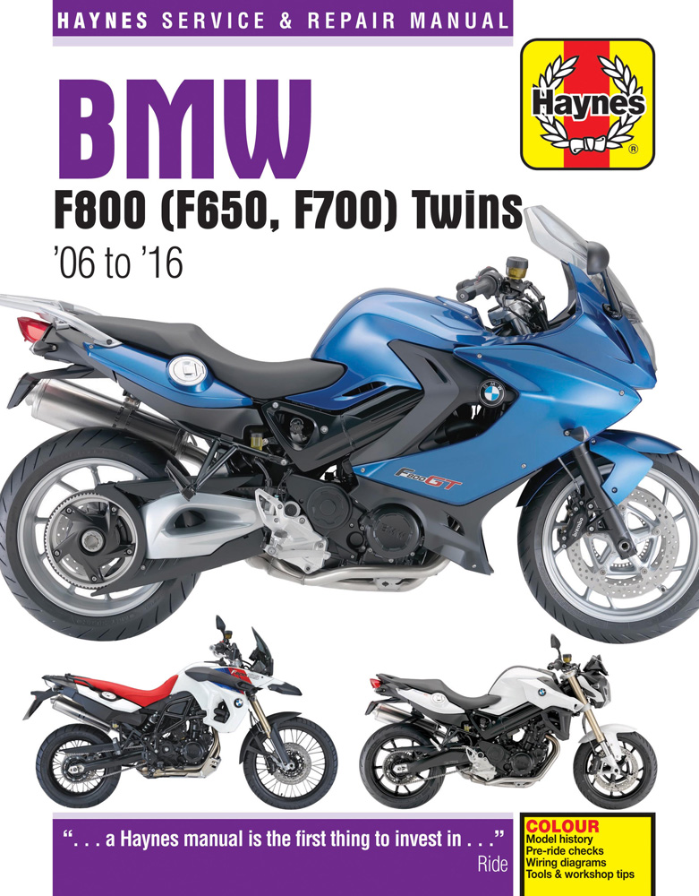 Vehicles Covered BMW F650 F700 & F800 Twins  Years Covered 2006-2016  Manual Includes     Step-by-step...