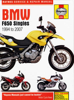 Complete coverage for your BMW F650 Singles 1994 thru 2007       Routine Maintenance      Tune-up procedures...