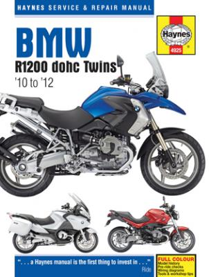 Vehicles Covered BMW R1200 dohc Twins  Years  Covered 2010-2012   Sections covered in manual     Fuel...