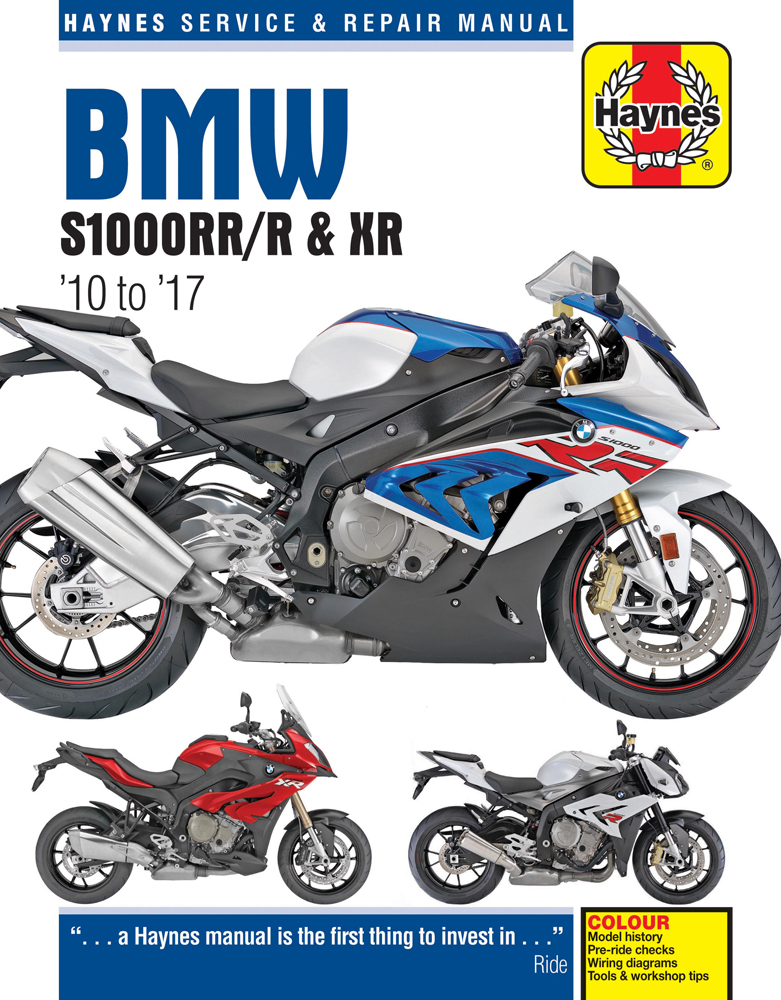 Vehicles Covered BMW S1000RR/R & XR   Does not cover the HP4  Years Covered 2010-2017  Manual Includes...