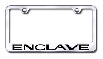 Buick Enclave Laser Etched Stainless Steel License Plate Frame