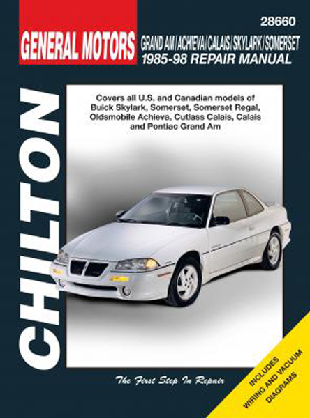 Image of Buick Skylark/Somerset & Oldsmobile Achieva/Calais/Grand Am (85-98) Chilton Manual