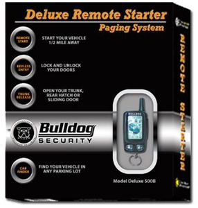 Bulldog Security LCD Deluxe Remote Starter & Keyless Entry System
