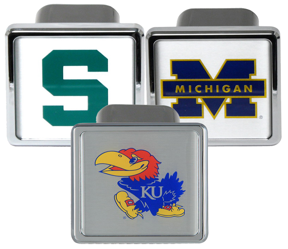 Bully Chrome College Hitch Covers -  KANSAS