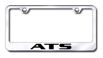 Cadillac ATS Laser Etched Stainless Steel License Plate Frame