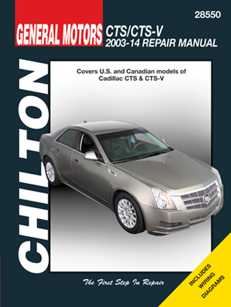 Image of Cadillac CTS & CTS-V Chilton Repair Manual (2003-2014)