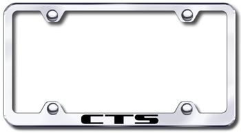 Cadillac CTS Laser Etched Stainless Steel Wide License Plate Frame