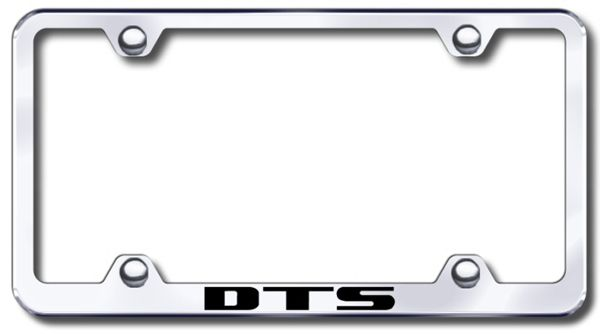Cadillac DTS Laser Etched Stainless Steel Wide License Plate Frame ...