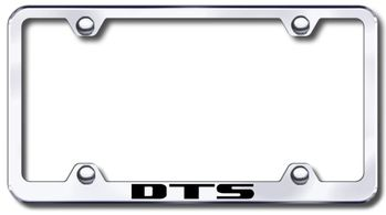 Cadillac DTS Laser Etched Stainless Steel Wide License Plate Frame