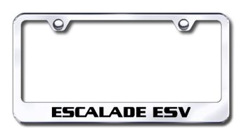 Cadillac Escalade ESV Laser Etched Stainless Steel License Plate Frame
