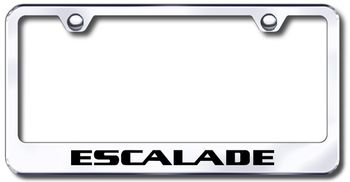 Cadillac Escalade Laser Etched Stainless Steel License Plate Frame