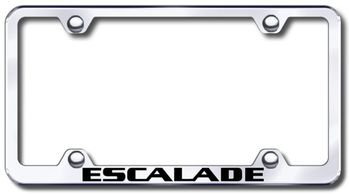 Cadillac Escalade Laser Etched Stainless Steel Wide License Plate Frame
