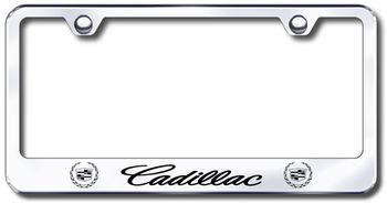 Cadillac Laser Etched Stainless Steel License Plate Frame