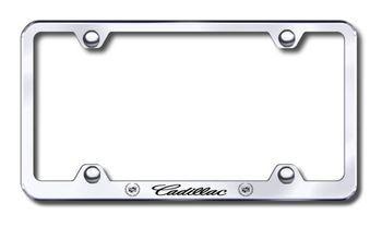 Cadillac Laser Etched Stainless Steel Wide License Plate Frame