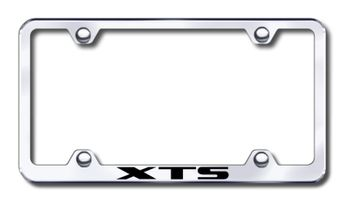 Cadillac XTS Laser Etched Stainless Steel Wide License Plate Frame
