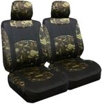 Camouflage Low Back Bucket Airbag Seat Cover (Pair)