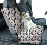 Canine Covers Semi-Custom Bucket Seat Paw Print Suede Finish Seat Protector