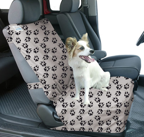 Image of Canine Covers Semi-Custom Bucket Seat Paw Print Suede Finish Seat Protector