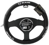 Car Logo Genuine Leather Steering Wheel Cover