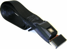 "Car & RV Black Push-Button Release Seat Belt (74"" Long)"