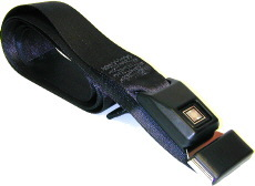 Car & RV Black Push-Button Release Seat Belt (74